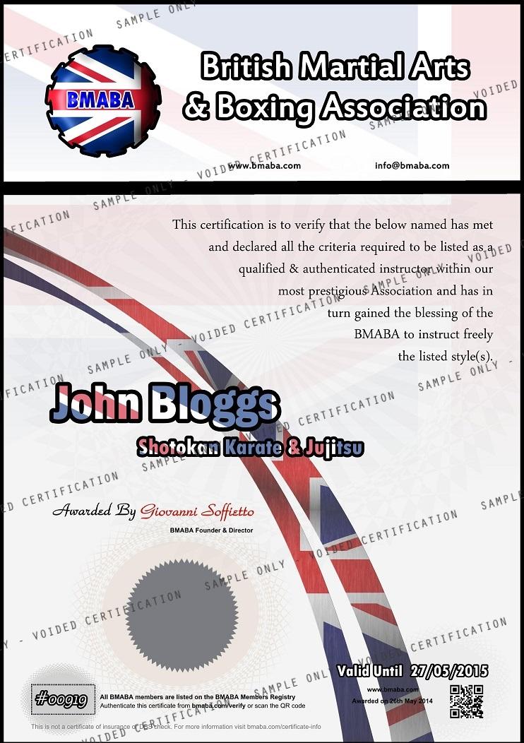 Instructors Certificate sample 30
