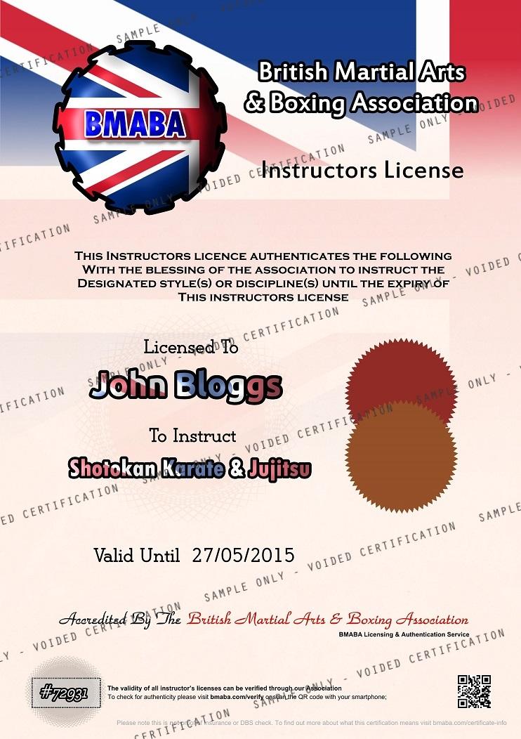 Instructors License SAMPLE 30